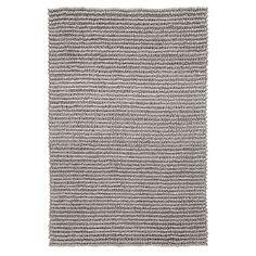 Textured Wool Rug, 8x10', Gray