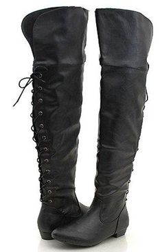 Thigh High Boots For Women | -Suede Studded Slouch Dress
