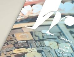Layout design for a magazine. Typography congress