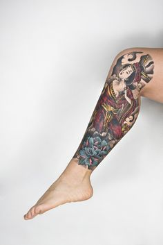 http://tattoo-ideas.us/wp-content/uploads/2013/10/Japanese-Painting-Leg-Tat.jpg Japanese Painting Leg Tat