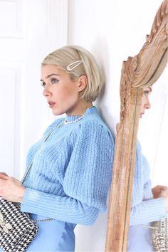 Feeling BLUE // Easy Slip Dress Outfit & Vogue V2784 - Riva la Diva Slip Dress Outfit, Dress Skirt, Dress Outfits, Vintage Vogue Patterns, Donna Karan, Satin Dresses, 90s Fashion, Diva, Easy