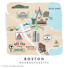 27 Best Boston map images