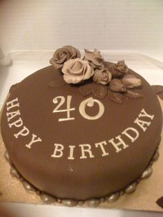 All chocolate birthday cake