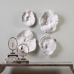 4 Piece Sea Coral Wall Décor Set    #White #decor #home #interior #design  #wall #art #wall #decor #sea #coral White Wall Decor, Wall Decor Set, Flower Wall Decor, White Home Decor, Metal Wall Decor, Wall Art Sets, Home Decor Wall Art, Coral Wall Art, Coral Walls
