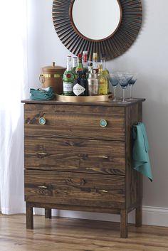 Bookcase Dresser...IKEA HACK turned Bar!