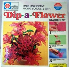 I HAD this and loved it!  The vapors from the dipping liquid probably caused brain damage! Dip-a-Flower! HON