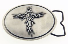 Tribal Cross reverse image from the green epoxy belt buckle designed by Forgiven Jewelry