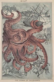 Octopus  by Norris, Frank    Nineteenth-century California wheat farmers wage a fierce battle against the rapid expansion into their fertile lands of the nation's railroads.