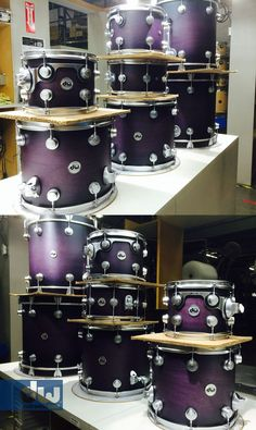 Dw drums collector series hard satin 0 purple to black burst with black chrome… Drum Accessories, Drum Heads, Drum Lessons, How To Play Drums, Drum Kits, Chant, Music Guitar, Music Instruments, Cool Stuff