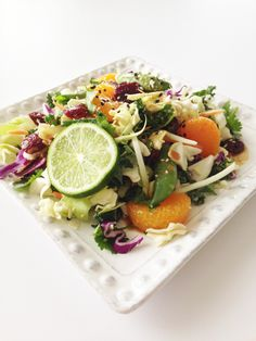 Healthified Asian Salad - deliciously healthy and so pretty!