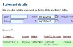 Here is my Withdrawal Proof from AdClickXpress. I get paid daily and I can withdraw daily. Online income is possible with ACX, who is definitely paying - no scam here.  Date: 07/09/2015 00:06 To Pay Procesor Perfect Money Account: U5301307 Payment ID: 130932  Amount: $368.64 Currency: USD Batch: 101082429 Memo: API Payment. Ad Click Xpress Withdraw #501009-130932    Join here: http://www.adclickxpress.com/?r=opet  #ACX #AdClickXpress #MakeMoneyFromHome #MakeMoneyOnline #NoScam…