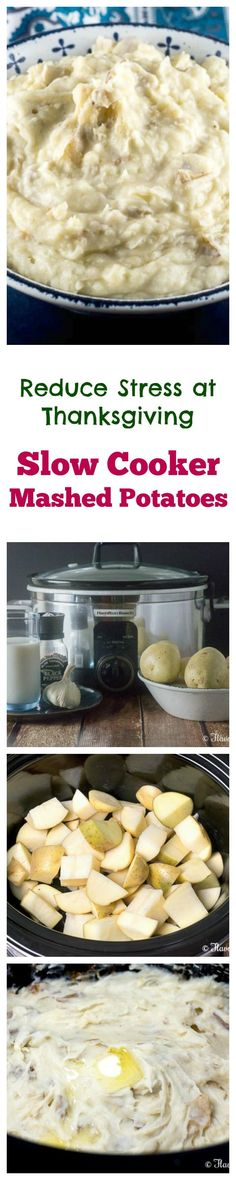 Make Thanksgiving dinner easy this year by making these Slow Cooker Mashed Potatoes to allow you to make them ahead of time and to free up valuable oven space. @eBay #eBayGuides #CleverGuides #ad ~ http://FlavorMosaic.com