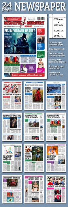 Newspaper  Newsletter Templates Layout Template And Design Design