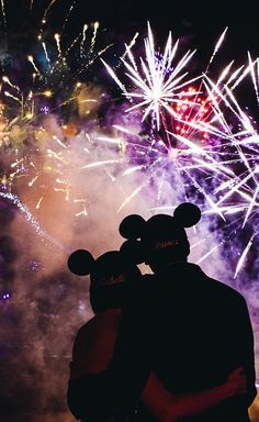 Disney world | Micky mouse Mini mouse | Couple | Fire work | Love | You and me forever | Relationship Goal
