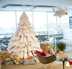 Paper Tree Christmas TreesPaper TreesDiy DecorationsXmas TreesChristmas IdeasChristmas CraftsRecycled TreeOffice