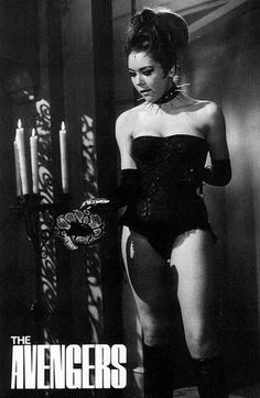 Diana Rigg as Emma Peel in 'The Avengers' TV series.