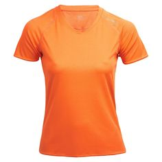 max-Q.com Basic Running Shirt | Laufshirt  Damen Orange | 21run.com