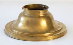 Vintage Brass Lighting Part Ceiling Canopy/ Shade Holder/ Collar 2 1/4 Inch  for $29.99 with free shipping