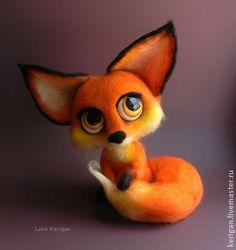 Валяная игрушка Лисица. Handmade.