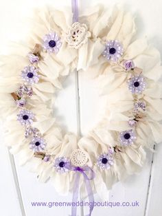 """#Flower Garland - coming soon at our etsy store. Ideal as an alternative to #wedding flowers or as an alternative wedding 'posy' for flower girls. We can provide with a """"here comes the bride"""" sign."""