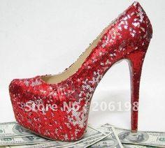 Silver Sequin Shoes Pumps Heels Shiny Glam 10 Edit