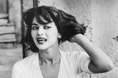 Portrait of Italian actress Giovanna Ralli sitting on a stone step. May Keystone/Hulton Archive / Getty Images\\. Italian Chic, Old Movie Stars, Cultural Identity, Roman Holiday, Italian Women, Italian Actress, Vintage Italy, Black And White Pictures, Old Movies