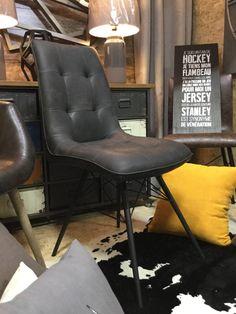 chaise minimaliste moderne polyvalente gris et noir