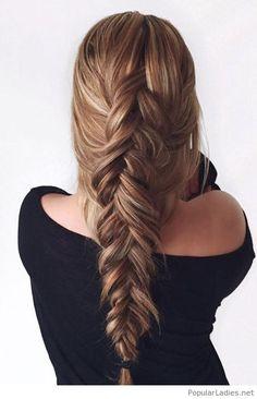 Very cute loose fishtail braid