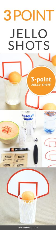 To get yourself in that March Madness kind of mood, these 3-point shots are as adorable as they are fun to drink. The sporty shots can be made with or without alcohol so that no one will be left out on the day of the big game.