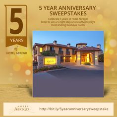 Hotel Abergo is celebrating 5 year anniversary and would like you to be part of it...click the image for your chance to win a 5 night stay!