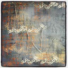 gris con naranja, plantas y texto