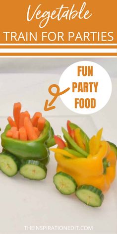 Looking for cute veggie tray ideas? This vegetable train is a fun party food idea and a great buffet food and healthy treat for your next get together. #veggietrayideas #vegetableplatter #Appetizer. Kids Birthday Snacks, Kids Party Snacks, Veggie Tray, Vegetable Side Dishes, Disney Party Foods, Disney Inspired Food, Best Party Food, Christmas Party Food, Dessert