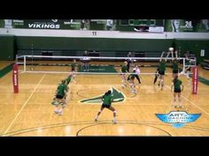 Volleyball Drill-3-2-1-0--out of system attacking and aggressiveness