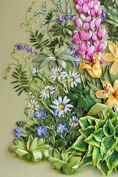 *silk ribbon embroidery