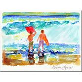 Found it at Wayfair - 'Boogie Boarders' by Wendra Painting Print on Canvas
