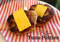 Buffalo Tuna Patties - a quick and healthy idea for lunch!