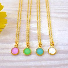 Circle Necklace, Dainty Necklace, Gold Necklace, Teardrop Earrings, Dangle Earrings, Tiny Rings, Matching Rings, Minimalist Necklace, Turquoise Earrings