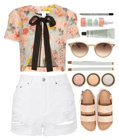 Untitled #721 by ssm1562 on Polyvore featuring polyvore мода style Oscar de la Renta Topshop Accessorize Ray-Ban Grown Alchemist By Terry fashion clothing