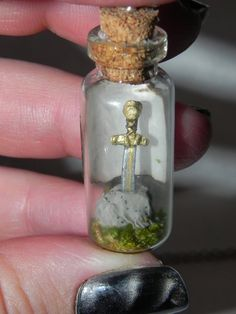 Merlin, The Sword in the Stone Bottle Necklace.