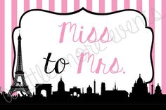 Parisian  Miss to Mrs  6x4 Digital File by ALittleMoreEvents