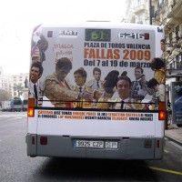 Publicidad autobús Valencia - ABONOS DE FALLAS PLAZA DE TOROS