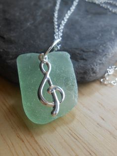 Sea Glass Necklace - Beach Glass Jewelry -  Ocean's Song. via Etsy.