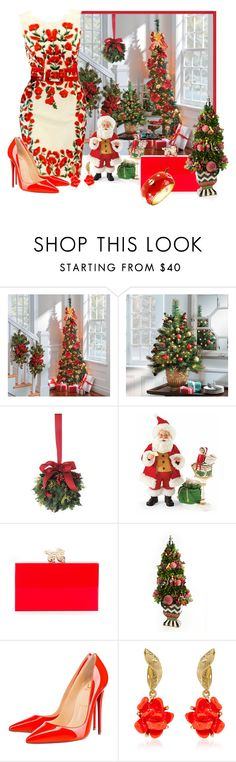 """""""Christmas is getting closer"""" by whiteflower7 ❤ liked on Polyvore featuring Williams-Sonoma, Charlotte Olympia, MacKenzie-Childs, Christian Louboutin, Oscar de la Renta and Rosie Fox"""