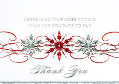 28 best holiday cards customer appreciation images on pinterest snowflake thank you deluxe holiday greeting card reheart Gallery