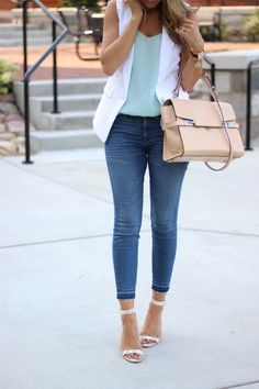 Lilly Style: casual Friday - the white vest/sleeveless blazer