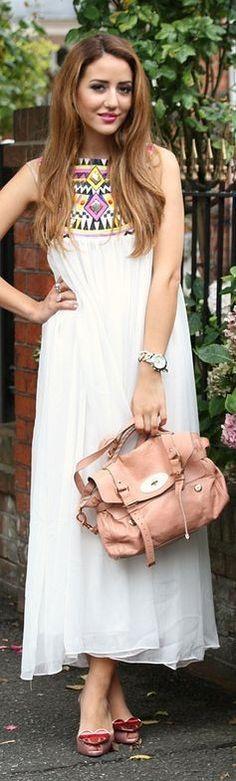 #summer #maxi #dress   Ethnic Detail Maxi Dress