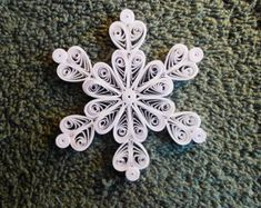 One set of large quilled snowflakes by SnowQuillings on Etsy