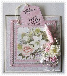 Flower Cards, Nye, Decorative Boxes, Scrapbooking, Paper Crafts, Garden, Flowers, Garten, Tissue Paper Crafts