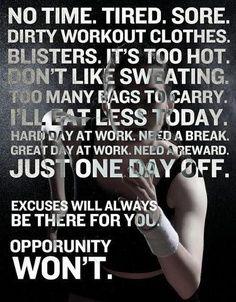 Deja Zu: Saturday Fitness Tip: Excuses #1
