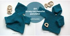 de las que están pintadas (Como un Lana, Crochet, Knitting, Diy, Grande, Baby Vest, Make A Purse, Knitted Baby Clothes, Knitting Designs